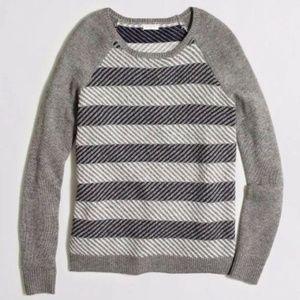 J Crew Intarsia Zigzag Sweater